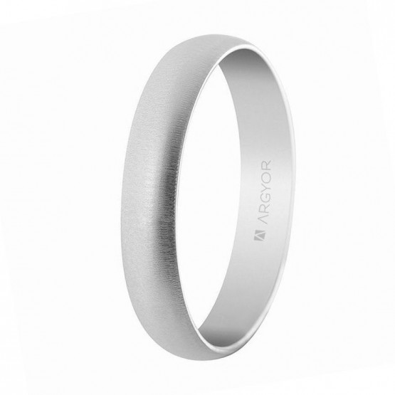 Alianza de boda en oro blanco 4mm texturizada (5B405T)