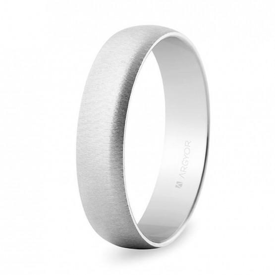 Alianza de boda oro blanco de 5mm texturizada (5B505T)