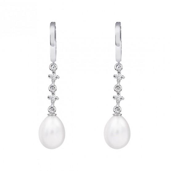 Pendientes de novia en oro blanco de18k y perlas (79B0302TE1) 1