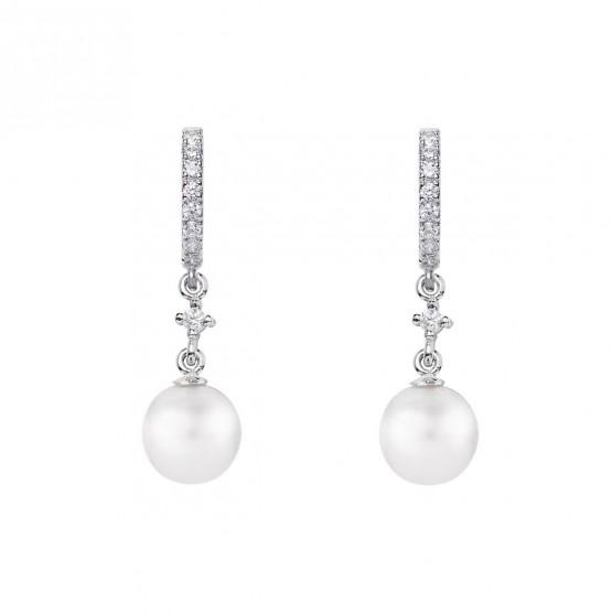 Pendientes de novia de oro blanco de18k con perlas (79B0401TD1) 1