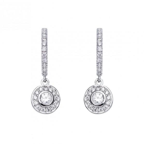 Pendientes de novia de plata con topacios (75B0214)