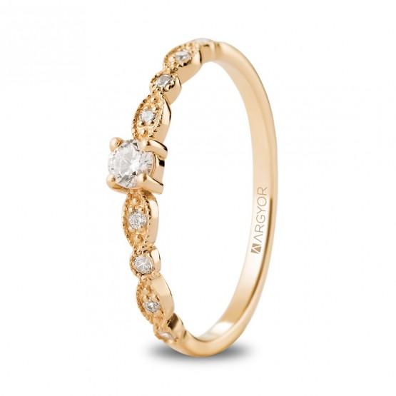 Anillo de compromiso oro rosa con brillante central  (74R0188)