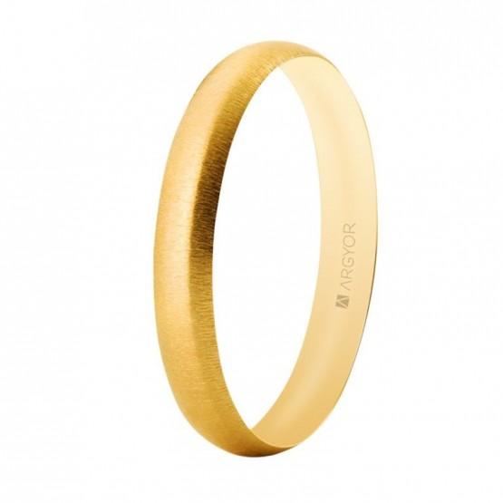 Alianza boda oro texturizada confort 3,3mm (5135513T)