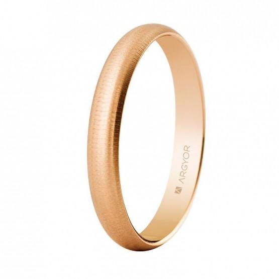 Alianza de boda oro rosa 3mm texturizada (5C305T)