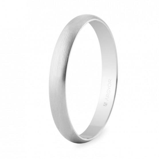 Alianza boda oro blanco 3 mm satinada (5B305S)