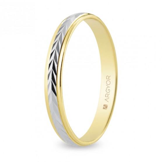Alianza de boda 2 oros 3mm espiga (5230283)