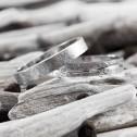 Alianza de oro blanco acabado hielo 4mm (5B40511)