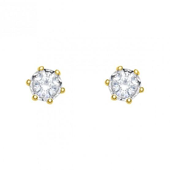 Pendientes de novia con 2 diamantes  (75A0501)