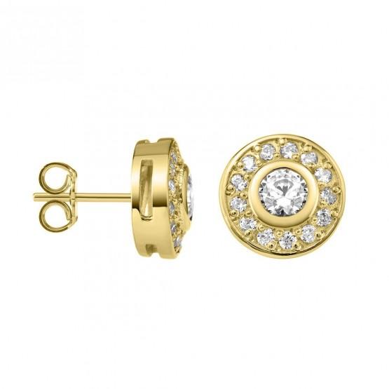 Pendientes de Diamantes roseta en oro 18k (75A0104)