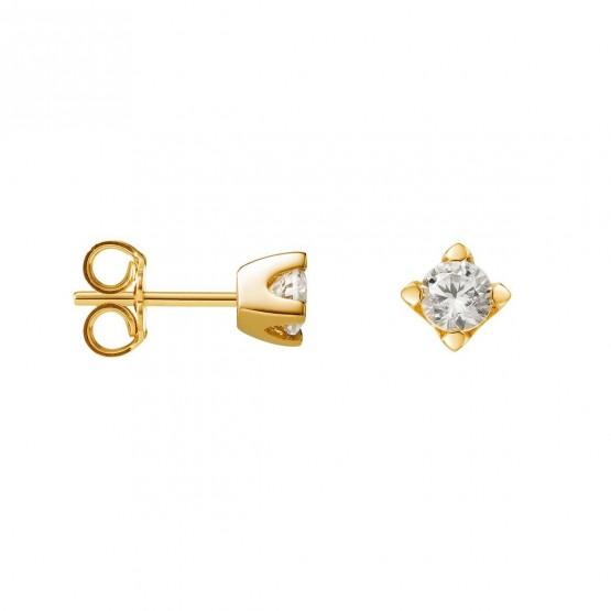 Pendientes de Oro con Diamantes en garras (75A0103)