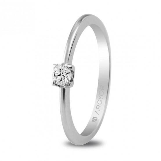 Anillo de compromiso de platino con 1 diamante (74B0005)