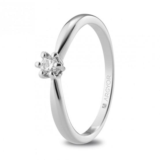 Anillo de Compromiso de platino con diamante 0.10ct (74B0130)