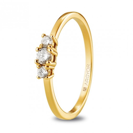 Anillo de oro con diamantes 0.19ct (74A0083)