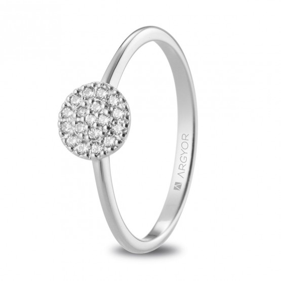 Anillo de diamantes en oro blanco 18k (74B0089)