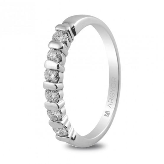 Anillo de compromiso con 6 diamantes 0.39ct (74B0021)