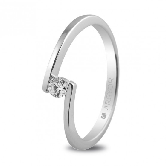 Anillo de compromiso con 1 diamante 0.10ct (74B0013)