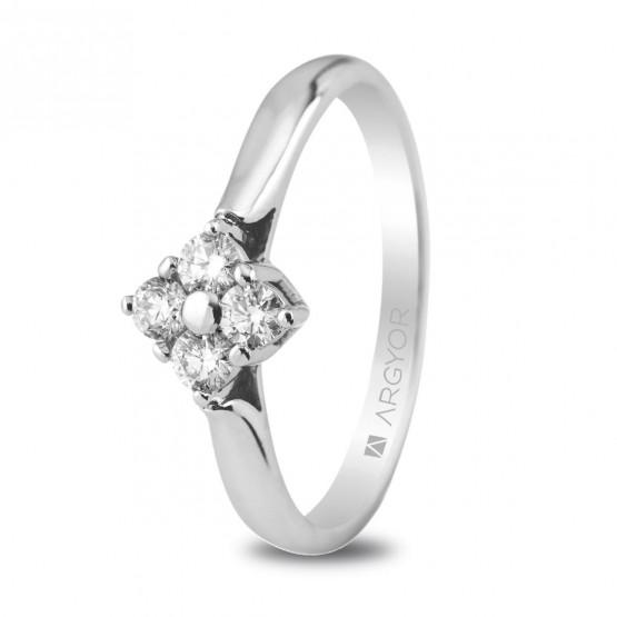 Anillo de compromiso con 4 diamantes 0.26ct (74B0019)