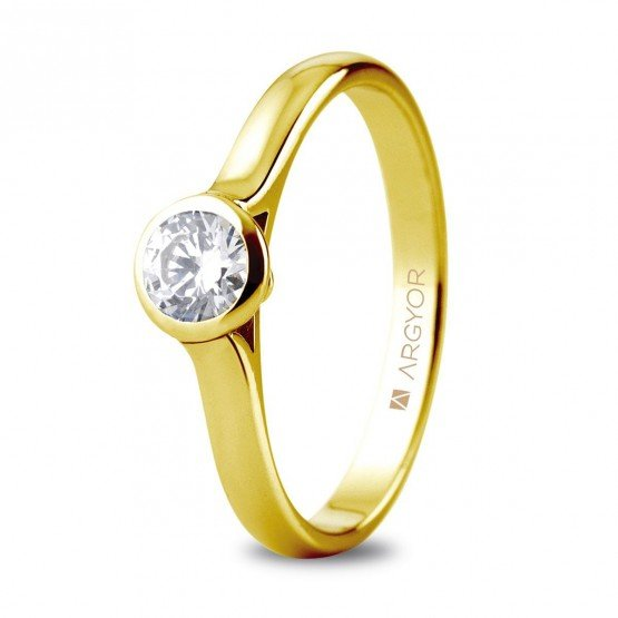 Anillo de compromiso  1 diamante talla brillante 0,34ct (74A0043)
