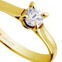 Anillo de compromiso 1 diamante talla brillante 0,34ct (74A0044)