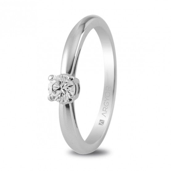 Solitario con 1 diamante oro blanco 0.16ct (74B0010)