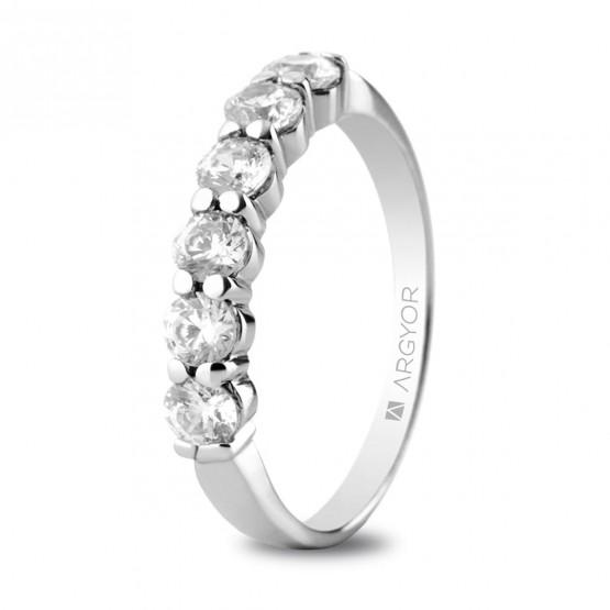 Anillo de compromiso con 6 diamantes 0.60ct (74B0037)