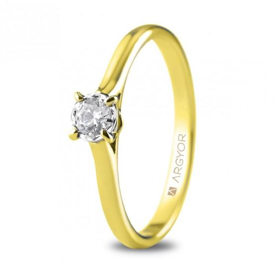 Anillo de compromiso 1 diamante talla brillante 0,20ct (74A0505)