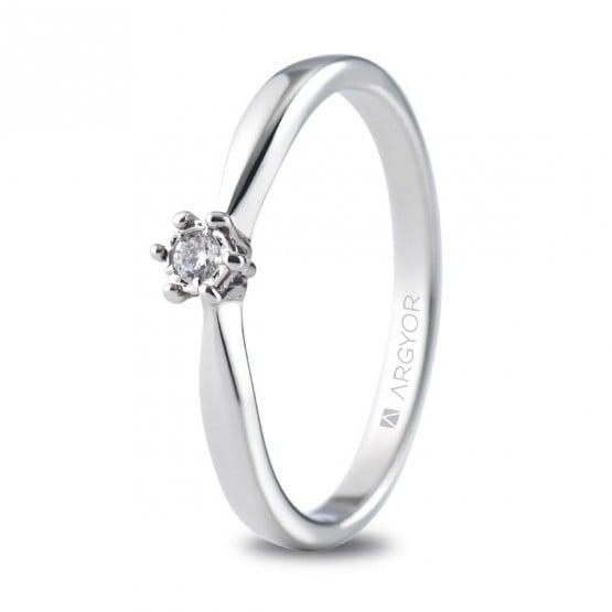Anillo de compromiso oro blanco con 1 diamante 0.05ct (74B0512)