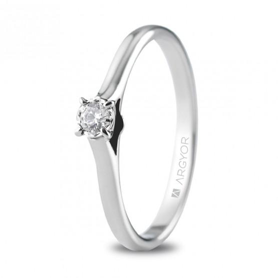 Anillo de compromiso con 1 diamante 0.08 ct (74B0503)