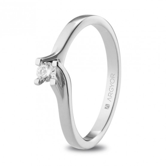 Anillo de platino con diamante 0.10ct (74B0148-74B0153)