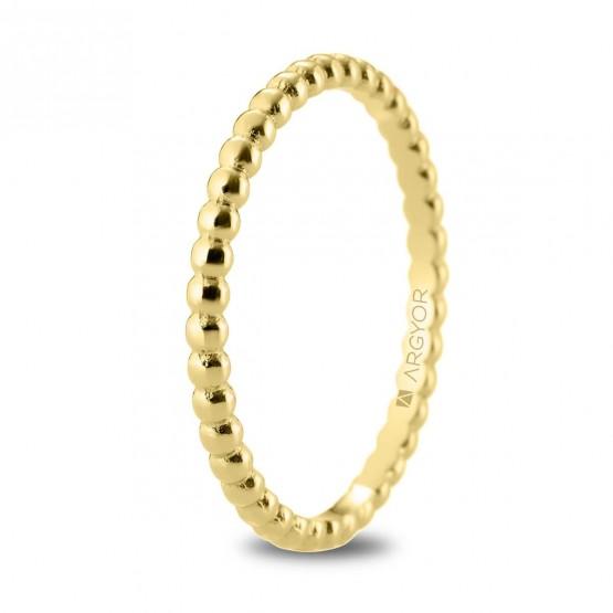 Alianza de boda en oro 18k en forma perlada (5118534)