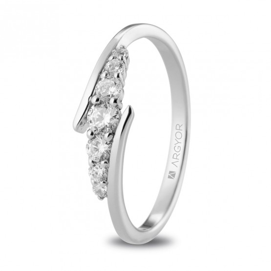 Anillo de diamantes 0.28ct en platino (74B0074)