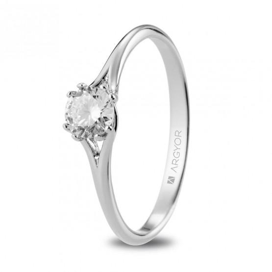 Anillo de Compromiso de platino con diamante 0.35ct (74B0090)