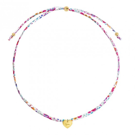 Gargantilla Liberty con colgante corazón plata dorada (3A8307506)