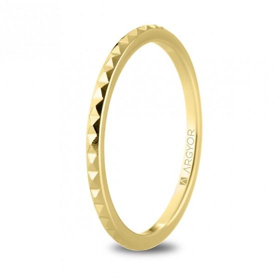 Alianza de boda en oro 18k tachuelas (5116536)