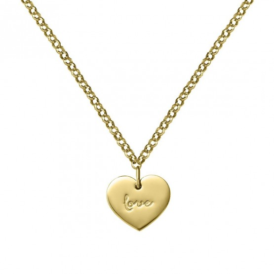 Collar de Oro amarillo Corazón love (3A8307315)