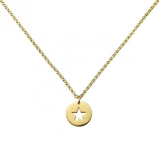 Gargantilla de plata dorada Estrella calada (3A8307309)