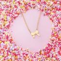 Collar de plata ley 925 dorada Lazo (3A8307314)