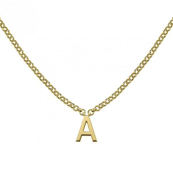 Gargantilla de oro amarillo 18k abecedario (3A8307310)