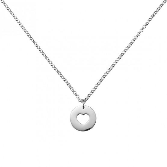 Collar de plata 1ª ley con un corazón calado (3B8307308)