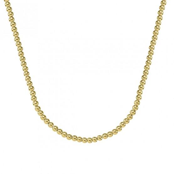 Collar de bolas de oro 18k 3mm (044A123COL)