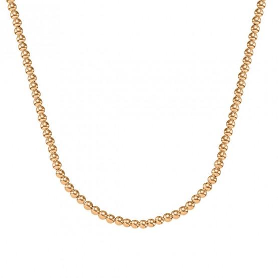 Collar de bolas de oro rosa 18k 3mm (044R123COL)