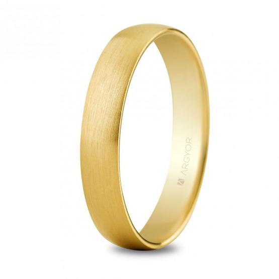 Alianza de oro amarilla efecto satinada 4mm confort (5640001S)
