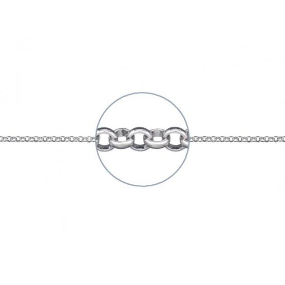 Cadena de plata rolo fina 40cm (34999C69)
