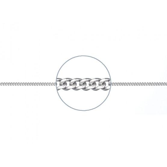 Cadena de plata barbada fina 40cm (34999C75)