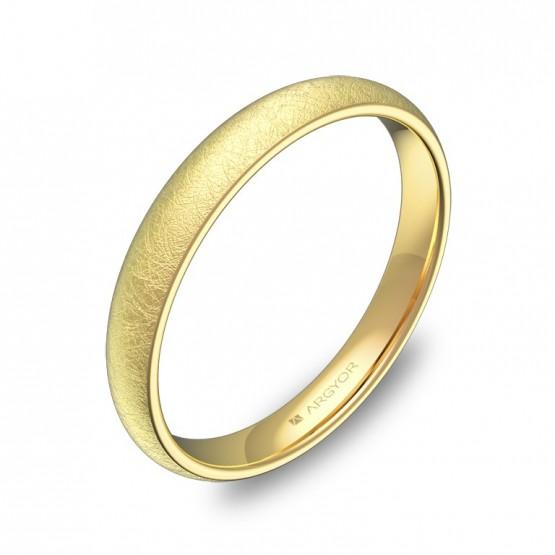 Alianza de media caña gruesa 3,0mm en oro amarillo hielo A0130H00A
