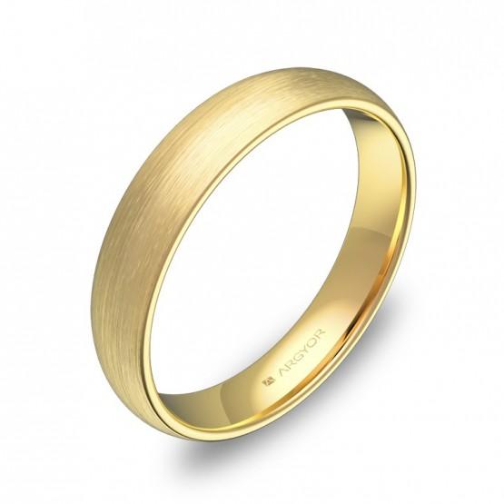 Alianza de media caña gruesa 4,0mm en oro amarillo satinado A0140S00A