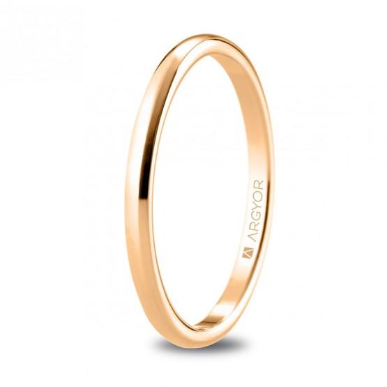 Alianza de oro rosa fina 1,8 mm (5R18529)