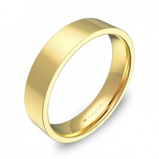 Alianza de boda 4,5mm en oro amarillo pulido B0145P00A