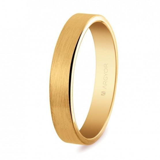 Alianza de boda oro plana satinada 4mm (5140150S)