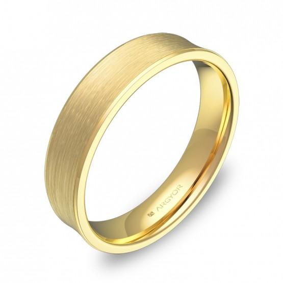 Alianza de boda cóncava 4,5mm en oro amarillo satinado C1145S00A